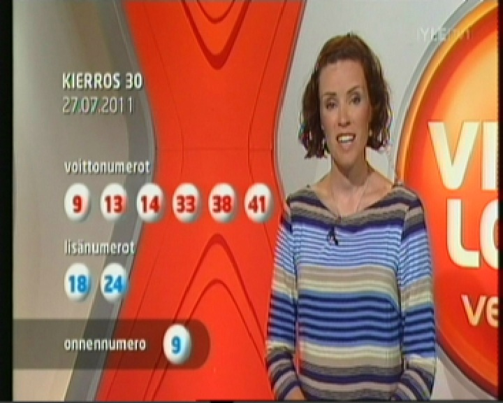 27. juuli 2011 loosimisel teatati Viking Lotto õnnenumbriks 9, kuigi tegelikult sai selleks hiljem 30. Kaader YLE1 loosimisest kell 20.25
