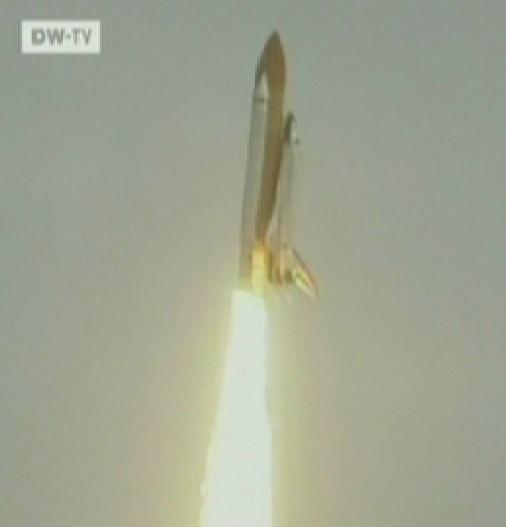 Kosmosesüstik Atlantis läheb viimasele lennule 8. juuli 2011 kell 15.29GMT. Kaader DWTV
