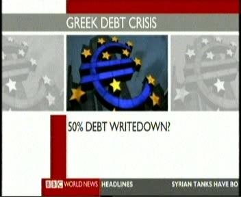 26. septembri BBC teatas võimalusest, et 50% Kreeka võlgadest kirjutatakse korstnasse.