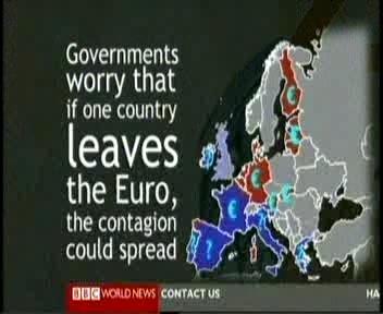15. septembri BBC uudistes värviti eurotsooni kuuluva värviga ka Läti ja Leedu, kus on tegelikult kasutusel oma rahvuslik valuuta (vastavalt latt ja litt ).