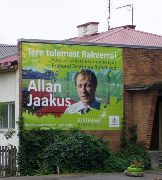 Allan Jaakus kandideeris teist korda 2009. aasta kohaliku omavalitsuse volikogu valimistel ja kogus 83 häält. Mandaadid saamiseks sellest ei piisanud. Foto Virgo Kruve