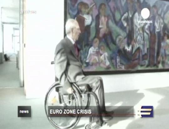 Eurotsoon ka justkui ratastoolis olija. Kaader Euronews 24. juuli