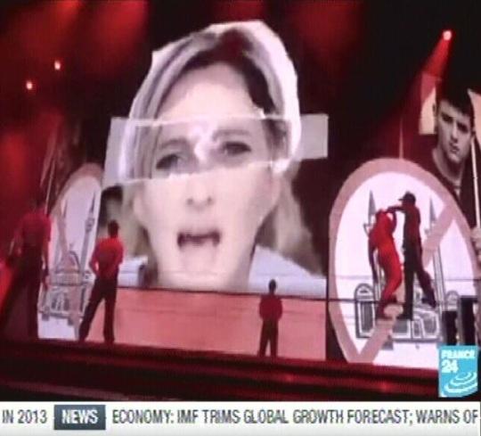 Madonna svastika. Kaader France24 telekanal